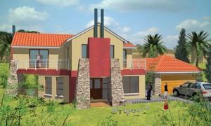 Fachada de casa moderna modelo 1