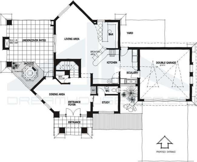 plantas de casas. Plano de casa modelo 1