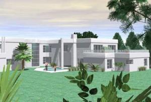 Fachada de casa moderna modelo 4