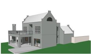 Fachada de casa moderna modelo 6