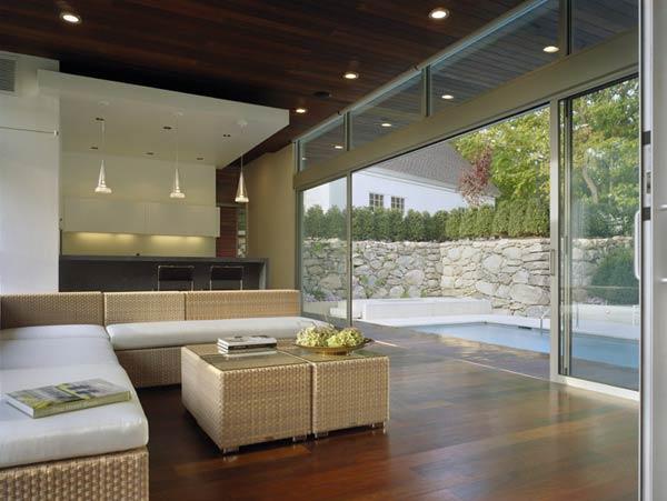 Espectacular casa moderna dise ada por hariri hariri Casas modernas grandes por dentro