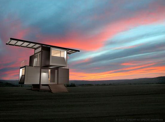 Casa ecol gica prefabricada futurista zerohouse - Casa ecologica prefabricada ...
