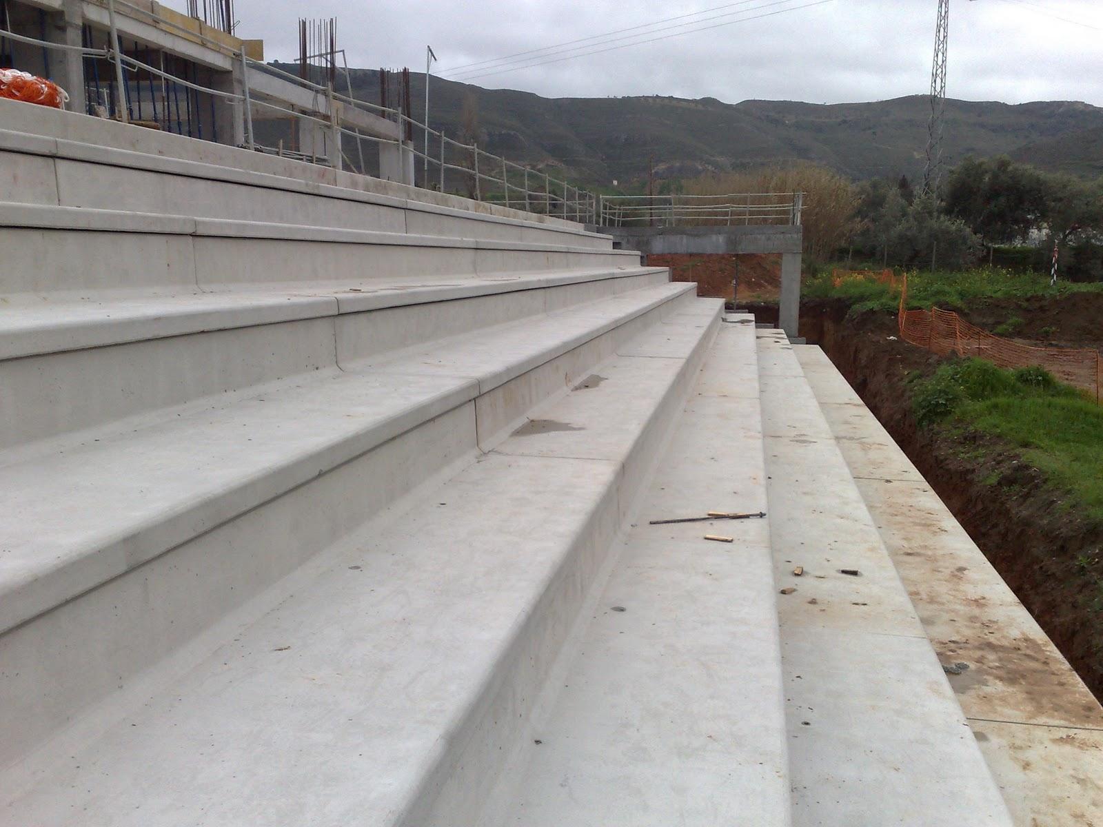 Durabilidad extrema en las gradas prefabricadas for Construccion de gradas de concreto