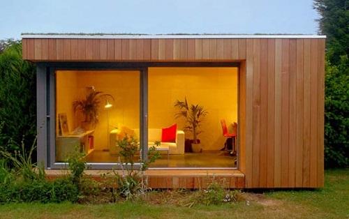Casas modulares de madera for Casas prefabricadas para jardin