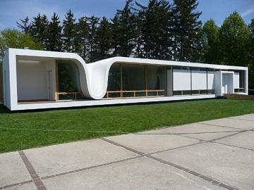 Una casa prefabricada futurista y de vanguardia for Casas modernas futuristas