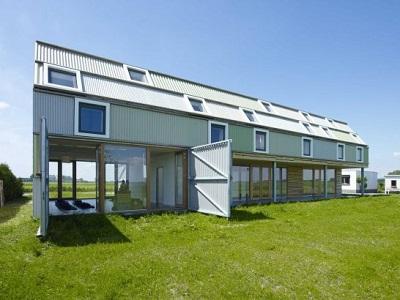 Fachadas de casas modernas prefabricadas 2013