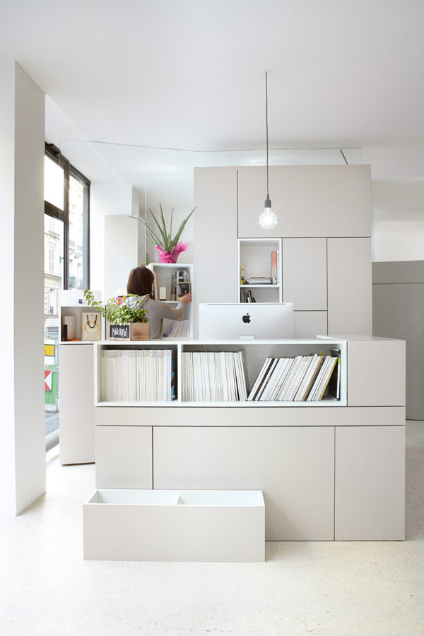 Decoracion de oficina fresca y luminosa en paris for Decoracion de interiores paris