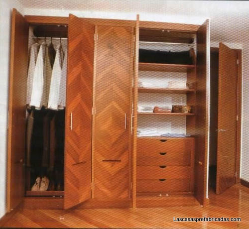 Split closets prefabricados for Closet de cemento modelos