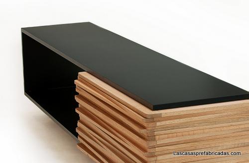 Mueblería minimalista con detalles rústicos