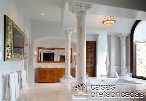 Columnas para interiores de marmol blanco