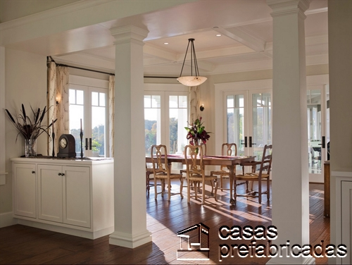 Columnas prefabricadas para interiores color blanco