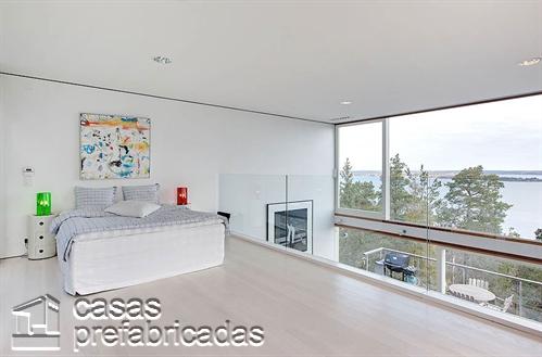 Mezzanine moderno en ambiente minimalista color blanco (15)