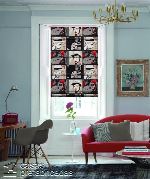 Cortinas decorativas basadas en la cultura popular de Birmingham West Midlands RU Pop-Art-Vino