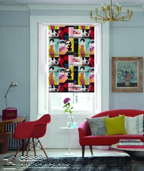Cortinas decorativas basadas en la cultura popular de Birmingham West Midlands RU Riviera-Jazz