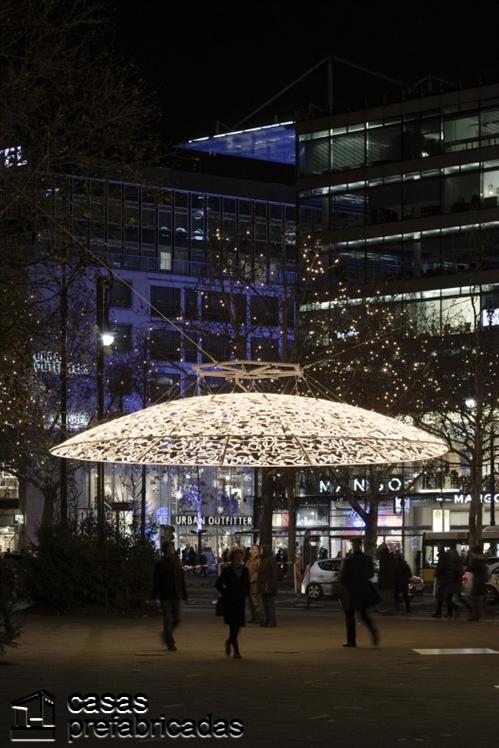 Decoración con luces navideñas en Berlín