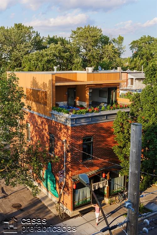 Moderna adición duplex en apartamento de Montreal (1)