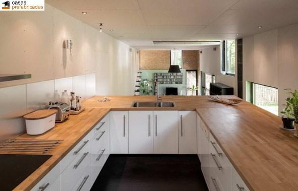 Casa moderna de bambú por arquitectos AST 77 en Rotselar, Bélgica (10)