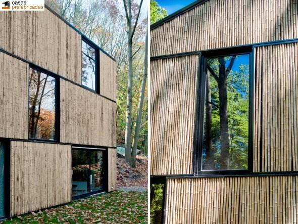 Casa moderna de bambú por arquitectos AST 77 en Rotselar, Bélgica (12)