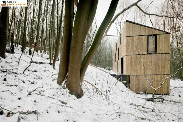 Casa moderna de bambú por arquitectos AST 77 en Rotselar, Bélgica (21)