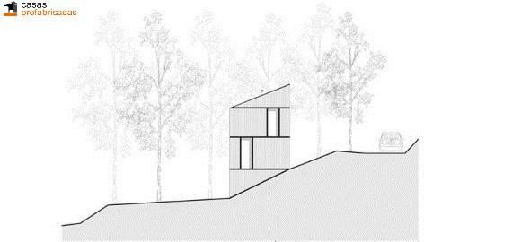Casa moderna de bambú por arquitectos AST 77 en Rotselar, Bélgica (5)