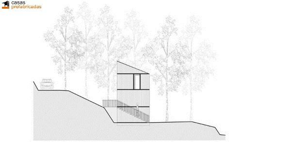 Casa moderna de bambú por arquitectos AST 77 en Rotselar, Bélgica (6)