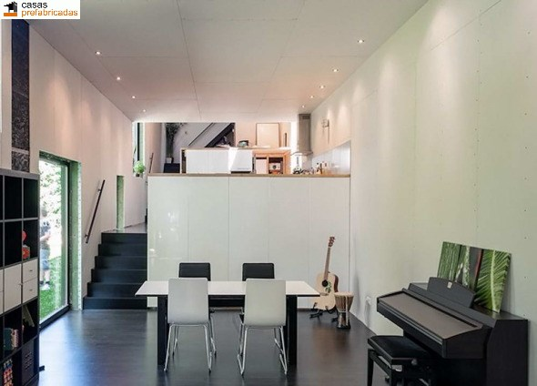 Casa moderna de bambú por arquitectos AST 77 en Rotselar, Bélgica (8)