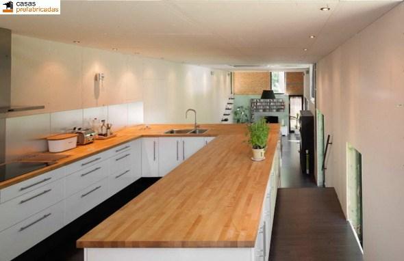 Casa moderna de bambú por arquitectos AST 77 en Rotselar, Bélgica (9)
