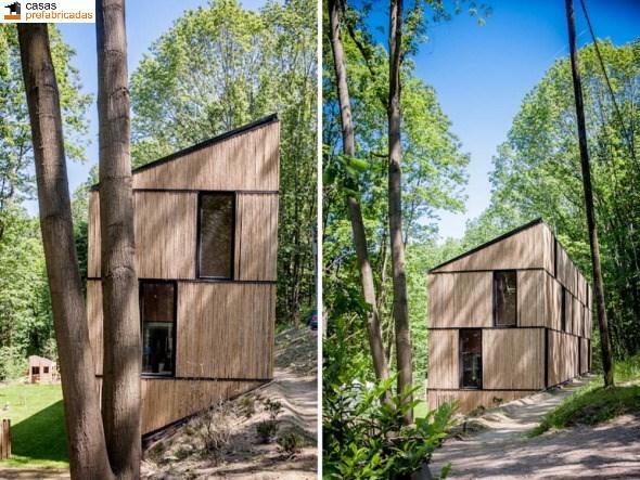 Casa moderna de bambú por arquitectos AST 77 en Rotselar, Bélgica (11)