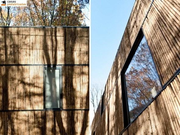 Casa moderna de bambú por arquitectos AST 77 en Rotselar, Bélgica (13)