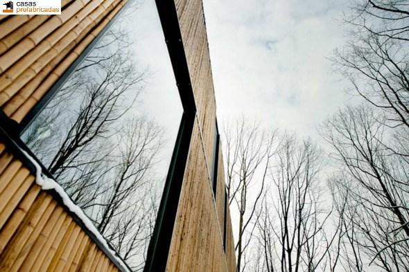 Casa moderna de bambú por arquitectos AST 77 en Rotselar, Bélgica (15)