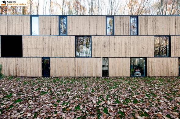 Casa moderna de bambú por arquitectos AST 77 en Rotselar, Bélgica (16)