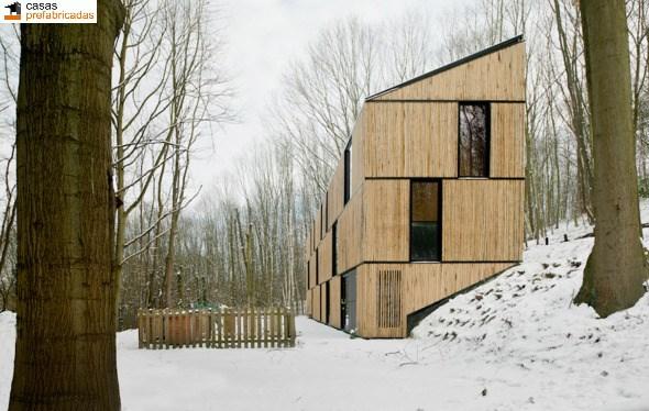 Casa moderna de bambú por arquitectos AST 77 en Rotselar, Bélgica (19)