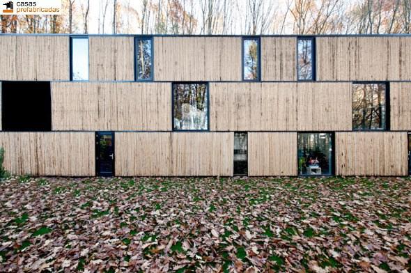 Casa moderna de bambú por arquitectos AST 77 en Rotselar, Bélgica (20)