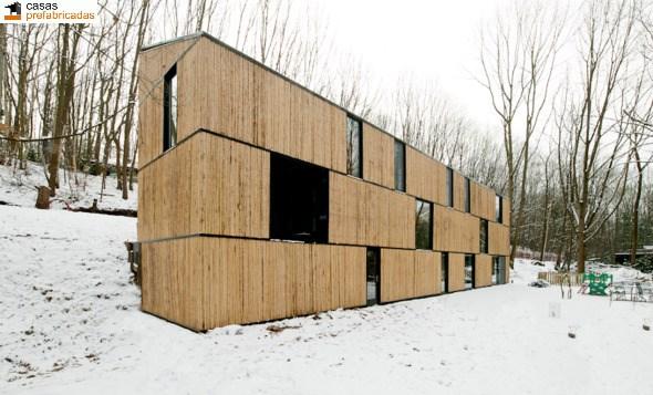 Casa moderna de bambú por arquitectos AST 77 en Rotselar, Bélgica (22)