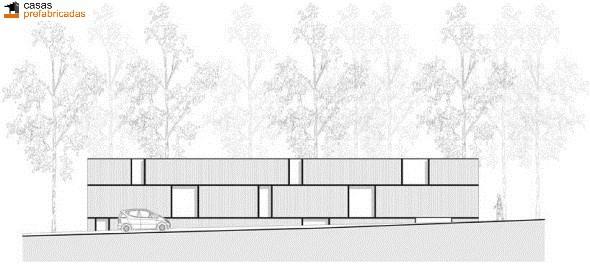 Casa moderna de bambú por arquitectos AST 77 en Rotselar, Bélgica (4)