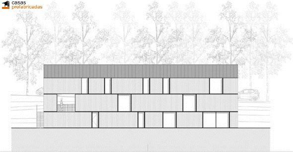 Casa moderna de bambú por arquitectos AST 77 en Rotselar, Bélgica (7)
