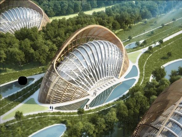 Bioclimática - eco villa en China (4)