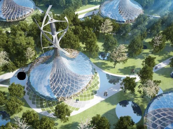 Bioclimática - eco villa en China (5)