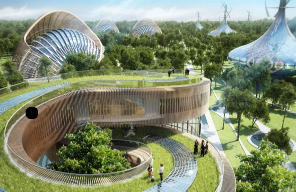 Bioclimática - eco villa en China (15)