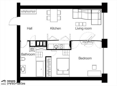 Muros que facilitan la transformación de apartamentos (2)