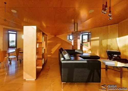 Sala e interiores de la Casa 31_4 Room House (1)