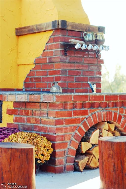 Bellas fachadas que incorporan hornos y cocinas coloniales en sus exteriores (2)