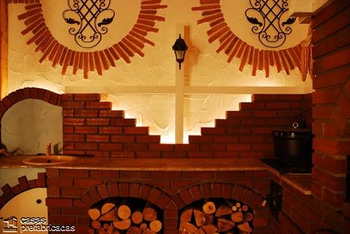 Bellas fachadas que incorporan hornos y cocinas coloniales en sus exteriores (38)