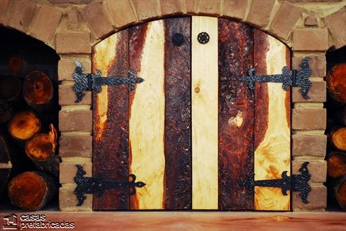 Bellas fachadas que incorporan hornos y cocinas coloniales en sus exteriores (45)