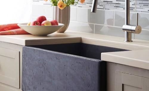 NativeStone™ una mezcla de cemento con yute - Lavamanos para cocinas y baños