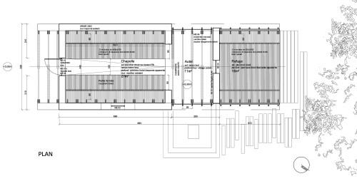 Planos de renovación de capilla St Genevieve en parque reservado de Francia por arquitectos OBIKA