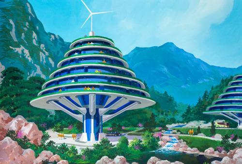 El futuro en Corea - Diseños de casas y edificios