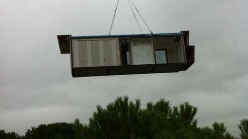 Instalación de casa prefabricada modular por A-cero en 10 horas