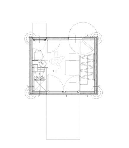 Planos de construccion de vivienda de tres pisos con madera en terreno minusculo (2)