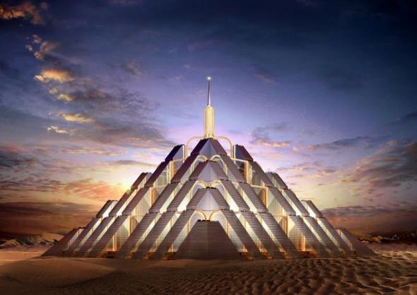 El carbono neutro y las ciudades piramidales en Dubai